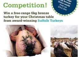 Win a Free Range 6kg Bronze Turkey from Suffolk Turkeys