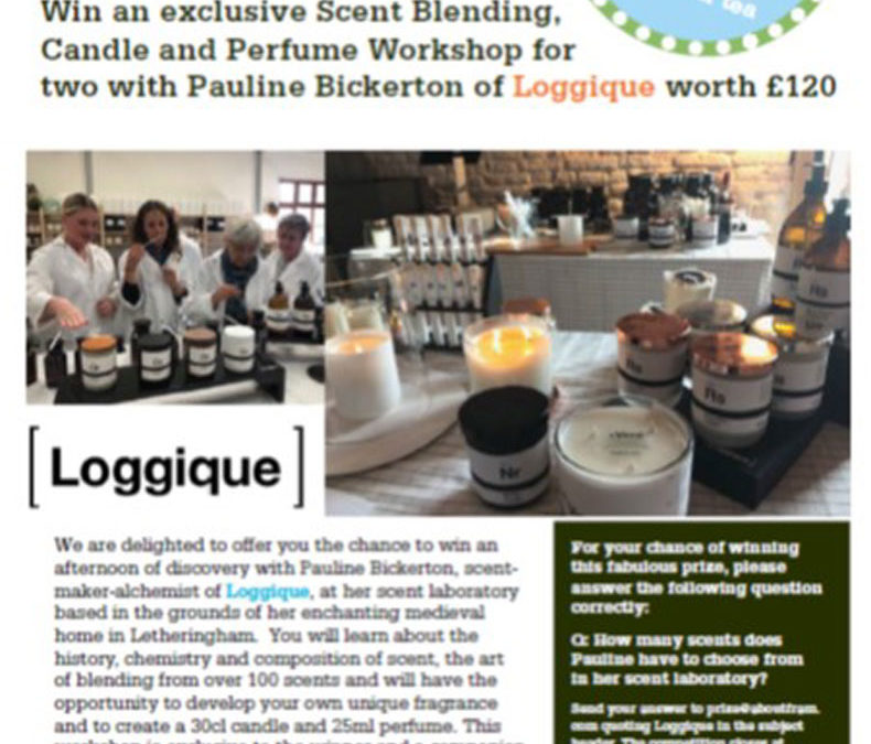 Win an exclusive Scent Blending, Candle and Perfume Workshop for two with Pauline Bickerton of Loggique worth £120