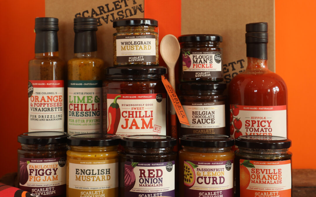 Win a hamper from Suffolk's best condiment maker – Scarlett & Mustard – bursting at the seams with delicious goodies. Now closed.